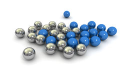Blue metallic marbles Stock Photography