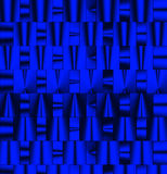 Blue metallic pattern Royalty Free Stock Photography