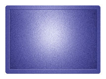 Blue Metallic Plate. And clippingpath for white background removal Royalty Free Stock Photography