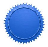 Blue Metallic Seal Stock Photography