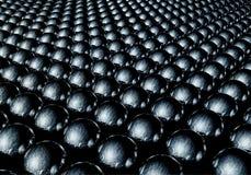 Blue metallic spheres. Dozens of blue metallic spheres that form an interesting futuristic background vector illustration