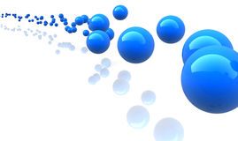 Blue metallic spheres Royalty Free Stock Photography