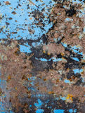 Blue metallic texture with rust for backgrounds Stock Images
