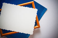 Blue metallized paper background Royalty Free Stock Photos