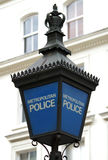 Blue Metropolitan Police lamp Royalty Free Stock Images