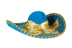 Blue Mexican Hat isolated on white Royalty Free Stock Photography
