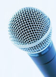 Blue Mic. Isolated Professional Microphone Royalty Free Stock Images