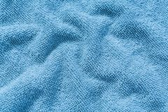 Blue micro fiber cloth texture Stock Photography