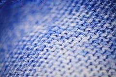 Blue micro fiber texture Stock Photography