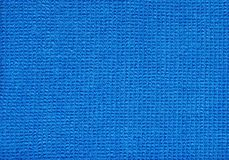Blue Micro Fibre Fabric Stock Photography