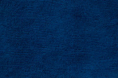 Blue microfiber cloth and blue microfiber texture of microfiber towel for design with copy space for text or image. Stock Photo