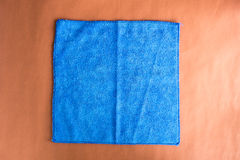 Blue microfiber cloth Royalty Free Stock Image