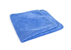 Blue microfiber cloth Stock Photo