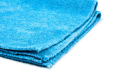 Blue microfiber duster closeup Stock Photography