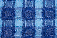 Blue microfiber texture Stock Photo