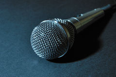 Blue microphone Stock Photo