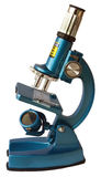 Blue microscope Royalty Free Stock Image
