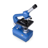 Blue microscope Royalty Free Stock Photo