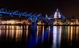 blue millenium bridge stock photo