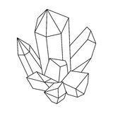 Blue mineral.Crystal, which is a towns produced in the mine.Mine Industry single icon in outline style vector symbol. Stock web illustration Stock Photography