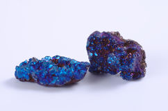 Blue minerals Royalty Free Stock Photo