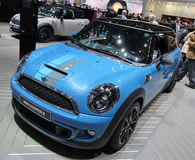 Blue Mini Cooper S Bayswater Stock Image
