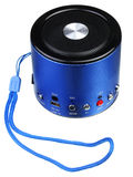 Blue mini portable speaker Royalty Free Stock Image