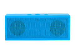 Blue mini portable speaker Stock Images