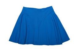 Blue Mini skirt. Royalty Free Stock Images