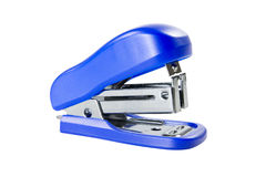 Blue mini stapler Royalty Free Stock Photo