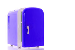 Blue miniature fridge 1 Stock Photos