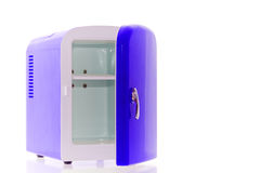 Blue miniature fridge 2 Royalty Free Stock Photography