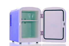 Blue miniature fridge 3 Royalty Free Stock Image