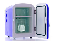 Blue miniature fridge 4 Royalty Free Stock Photo