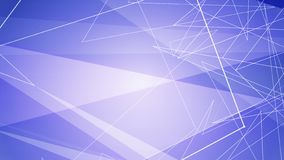 Blue Minimalist Lines and Triangles Illustration stock photography