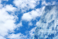 Blue mirror glass building, exterior building Royalty Free Stock Images