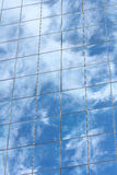 Blue mirror glass building, exterior building Stock Image