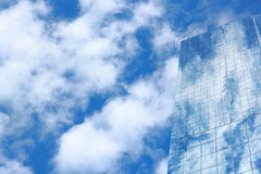 Blue mirror glass building, exterior building Stock Photos