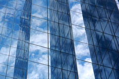 Blue mirror glass building, exterior building Stock Images