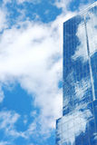 Blue mirror glass building, exterior building Royalty Free Stock Photo