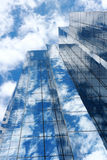 Blue mirror glass building, exterior building Royalty Free Stock Image