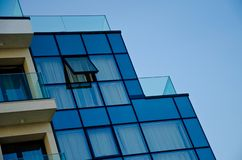 Office building with glass facade stock image