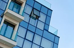 Office building with glass facade royalty free stock photos