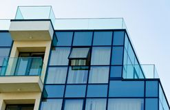 Office building with glass facade royalty free stock photography