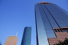 Blue mirror glass facade skyscraper buildings Royalty Free Stock Photography