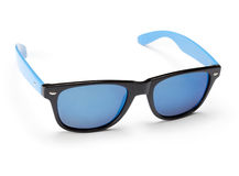Blue mirrored sunglasses Royalty Free Stock Photo