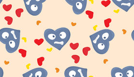 Blue Miserable Heart Pattern Stock Image