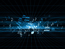 Blue Misic Shockwave Royalty Free Stock Image