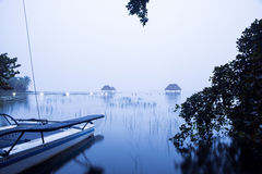 Blue mist in the lagoon Royalty Free Stock Image