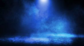 Blue misty dark background. stock photography